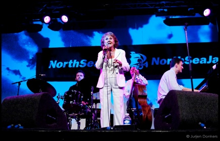 Rita Reys at the North Sea Jazz Festival, with Peter Beets, Ruud Jacobs and Joost Patocka